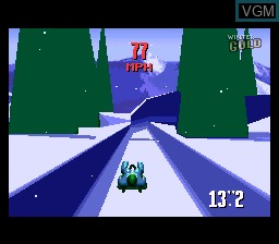 In-game screen of the game Winter Gold on Nintendo Super NES