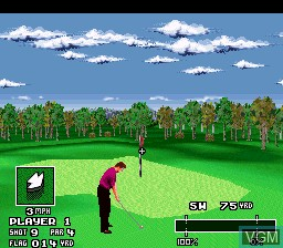 In-game screen of the game World Masters Golf on Nintendo Super NES