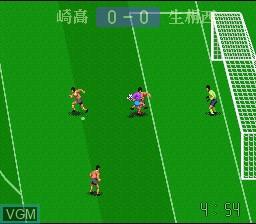 In-game screen of the game Zenkoku Koukou Soccer 2 on Nintendo Super NES