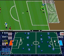 In-game screen of the game Zico Soccer on Nintendo Super NES