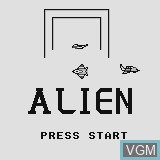 Title screen of the game Alien on Watara Supervision