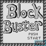 Title screen of the game Block Buster on Watara Supervision