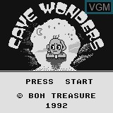 Title screen of the game Cave Wonders on Watara Supervision
