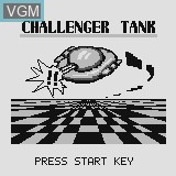 Title screen of the game Challenger Tank on Watara Supervision
