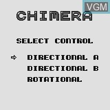 Title screen of the game Chimera on Watara Supervision