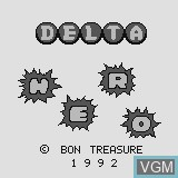 Title screen of the game Delta Hero on Watara Supervision