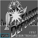Title screen of the game Earth Defender on Watara Supervision