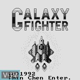 Title screen of the game Galaxy Fighter on Watara Supervision