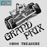 Title screen of the game Grand Prix on Watara Supervision