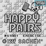 Title screen of the game Happy Pairs on Watara Supervision