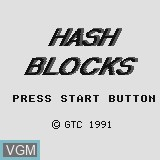 Title screen of the game Hash Blocks on Watara Supervision