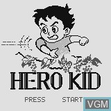 Title screen of the game Hero Kid on Watara Supervision