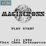 Title screen of the game Magincross on Watara Supervision