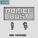 Title screen of the game Police Bust on Watara Supervision