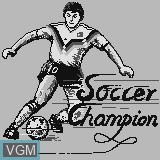 Title screen of the game Soccer Champion on Watara Supervision