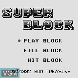 Title screen of the game Super Block on Watara Supervision