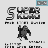 Title screen of the game Super Kong on Watara Supervision