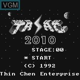 Title screen of the game Tasac 2010 on Watara Supervision