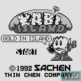 Title screen of the game Kabi Island on Watara Supervision