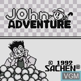 Title screen of the game John Adventure on Watara Supervision