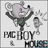 Title screen of the game PacBoy & Mouse on Watara Supervision