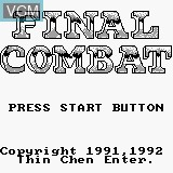 Title screen of the game Final Combat on Watara Supervision