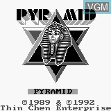 Title screen of the game Pyramid on Watara Supervision