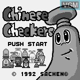 Title screen of the game Chinese Checkers on Watara Supervision