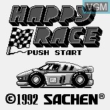 Title screen of the game Happy Race on Watara Supervision