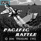 Title screen of the game Pacific Battle on Watara Supervision