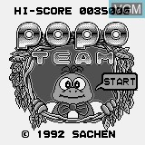 Title screen of the game Popo Team on Watara Supervision