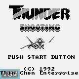 Title screen of the game Thunder Shooting on Watara Supervision
