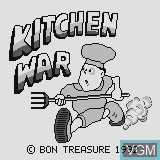 Title screen of the game Kitchen War on Watara Supervision