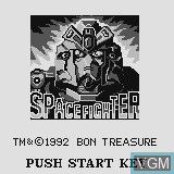 Title screen of the game Space Fighter on Watara Supervision