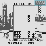 In-game screen of the game Hash Blocks on Watara Supervision