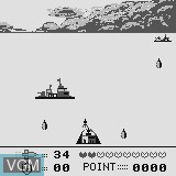 In-game screen of the game P52 Sea Battle on Watara Supervision
