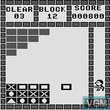 In-game screen of the game Super Block on Watara Supervision