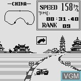 In-game screen of the game Grand Prix on Watara Supervision