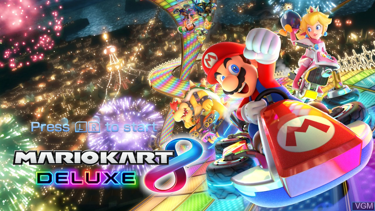 Title screen of the game Mario Kart 8 Deluxe on Switch