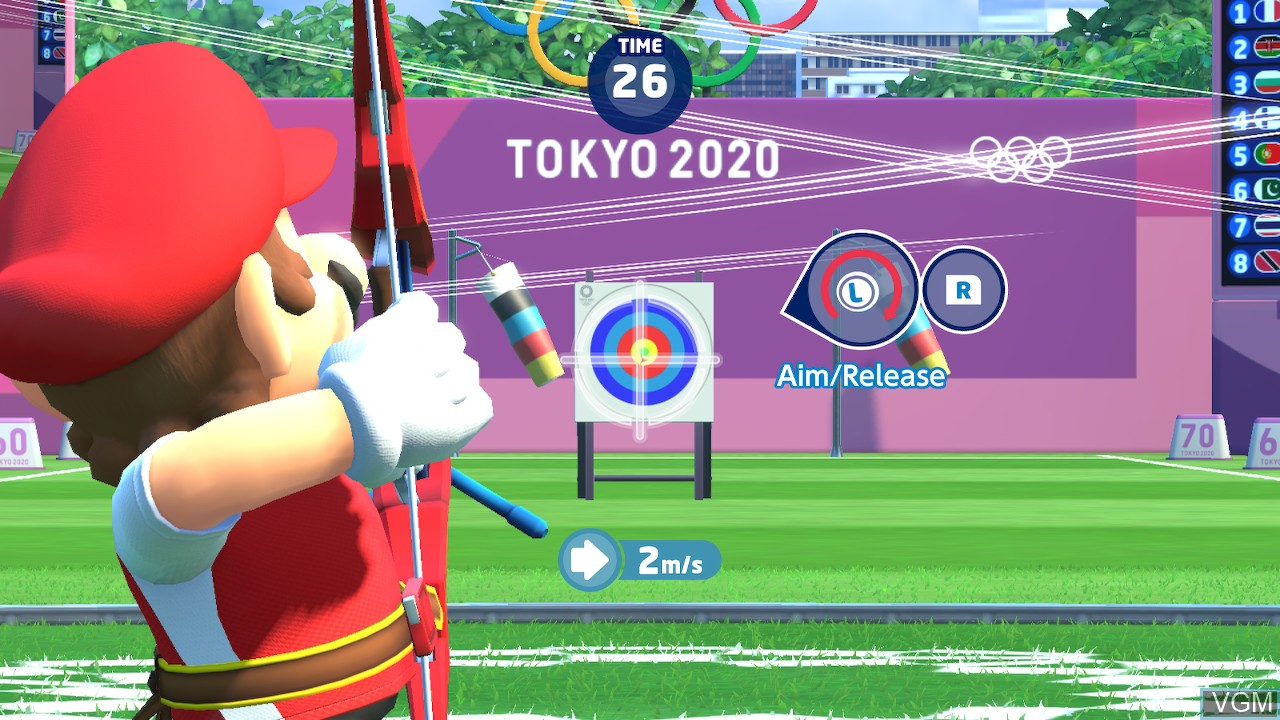 In-game screen of the game Mario & Sonic at the Olympic Games - Tokyo 2020 on Switch