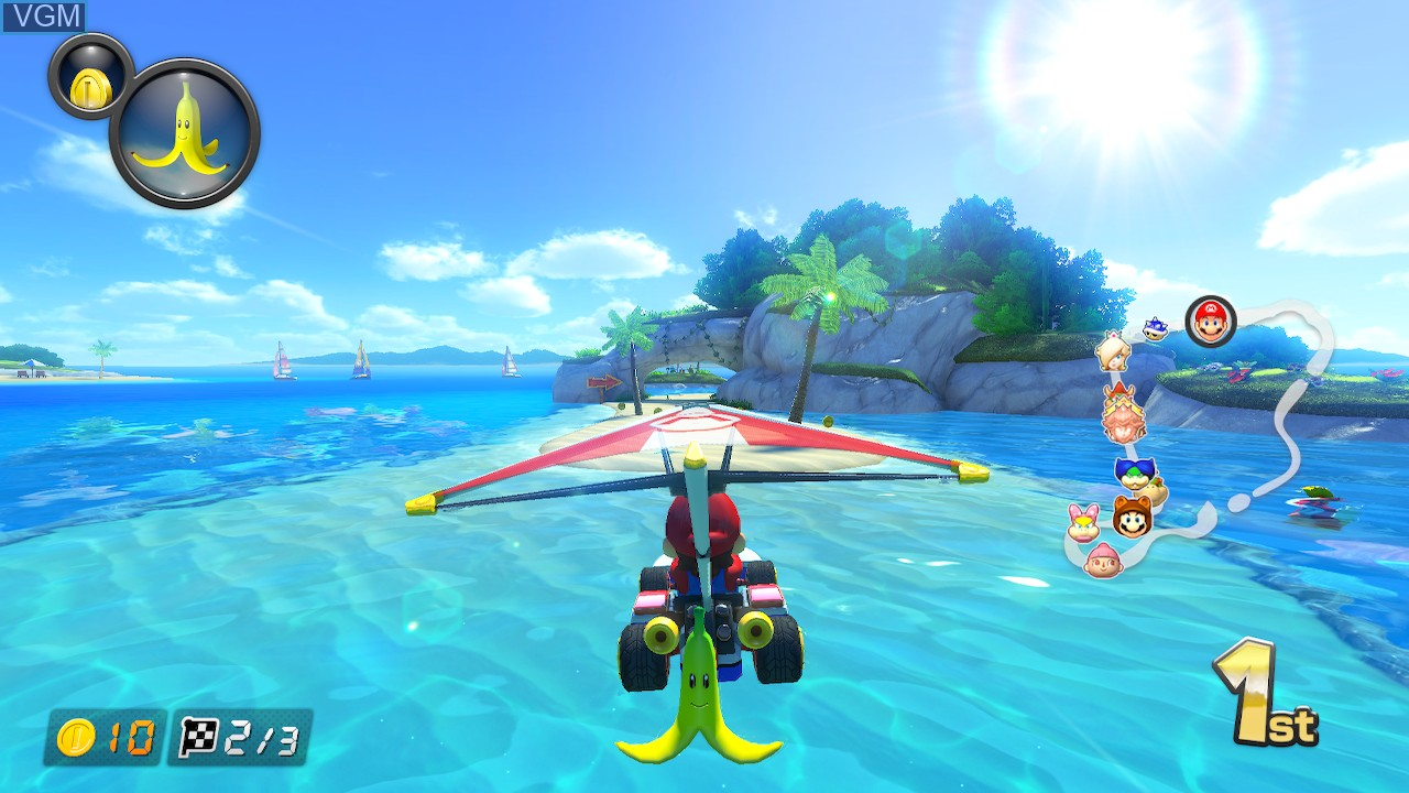 In-game screen of the game Mario Kart 8 Deluxe on Switch