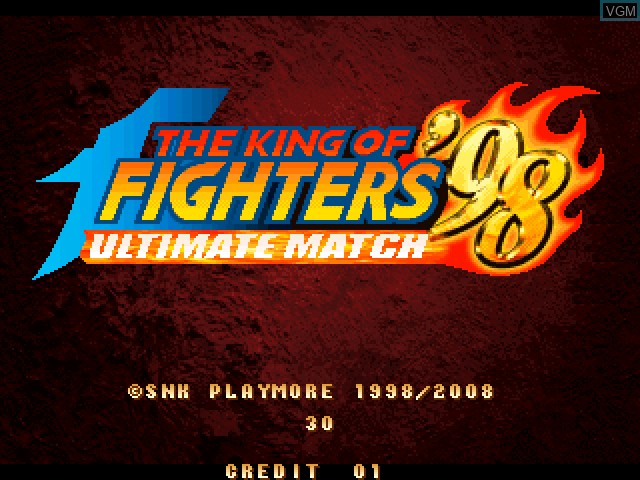 Title screen of the game King of Fighters 98, The - Ultimate Match on Taito Type X