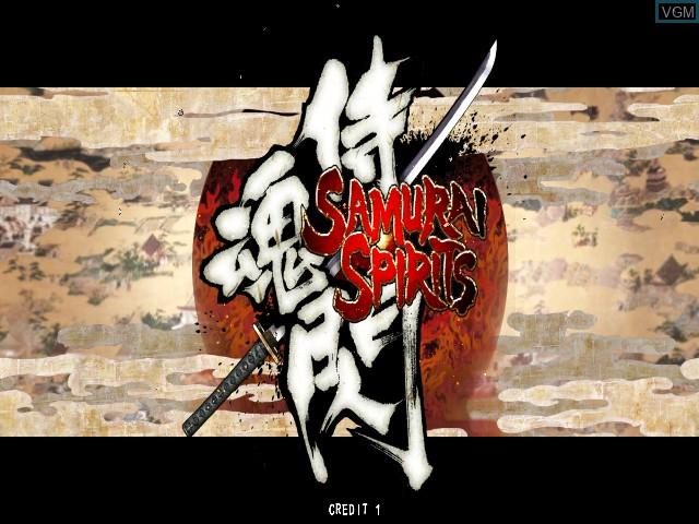 Title screen of the game Samurai Shodown - Edge of Destiny on Taito Type X