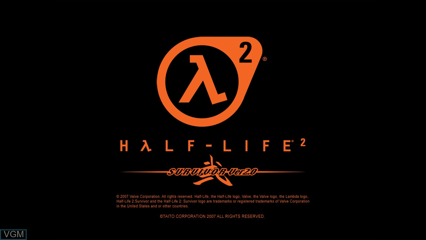 Title screen of the game Half Life 2 - Survivor Ver. 2.0 on Taito Type X