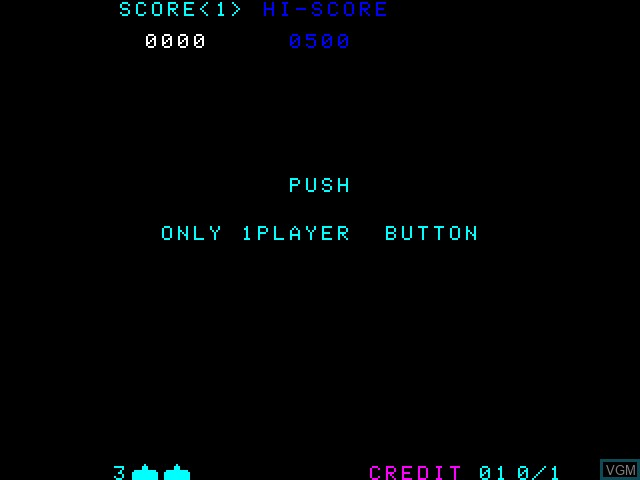 Menu screen of the game Space Invaders on Taito Type X