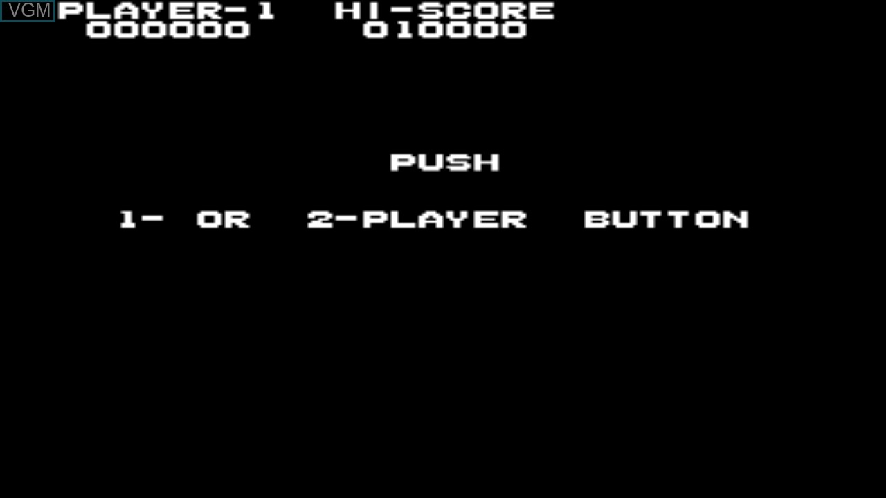 Menu screen of the game Elevator Action on Taito Type X