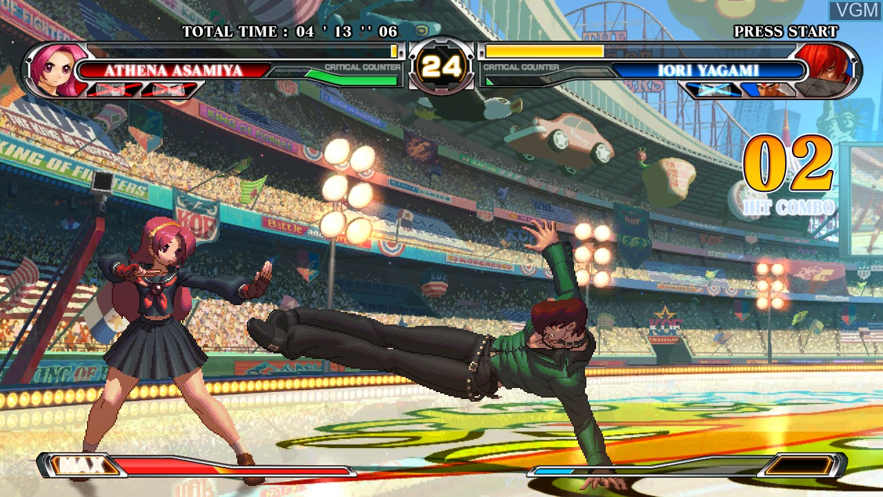 In-game screen of the game King of Fighters XII, The on Taito Type X