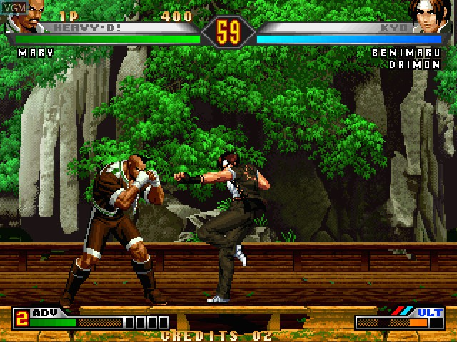 In-game screen of the game King of Fighters 98, The - Ultimate Match on Taito Type X