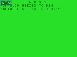 Title screen of the game Groan on Tandy MC10