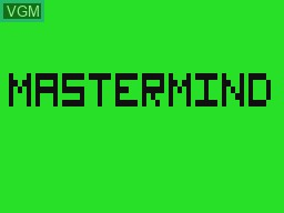 Title screen of the game Mastermind on Tandy MC10